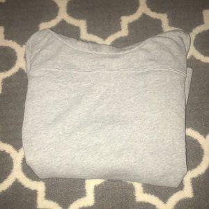 Gray cowl neck sweatshirt